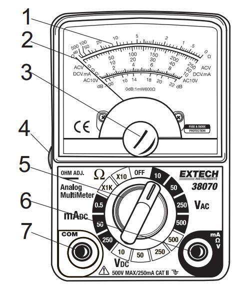 EXTECH 38070紧凑的模拟万用表